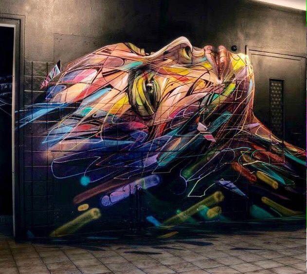 Galaxy Beauty Face - Colorful #StreetArt - be artist be art