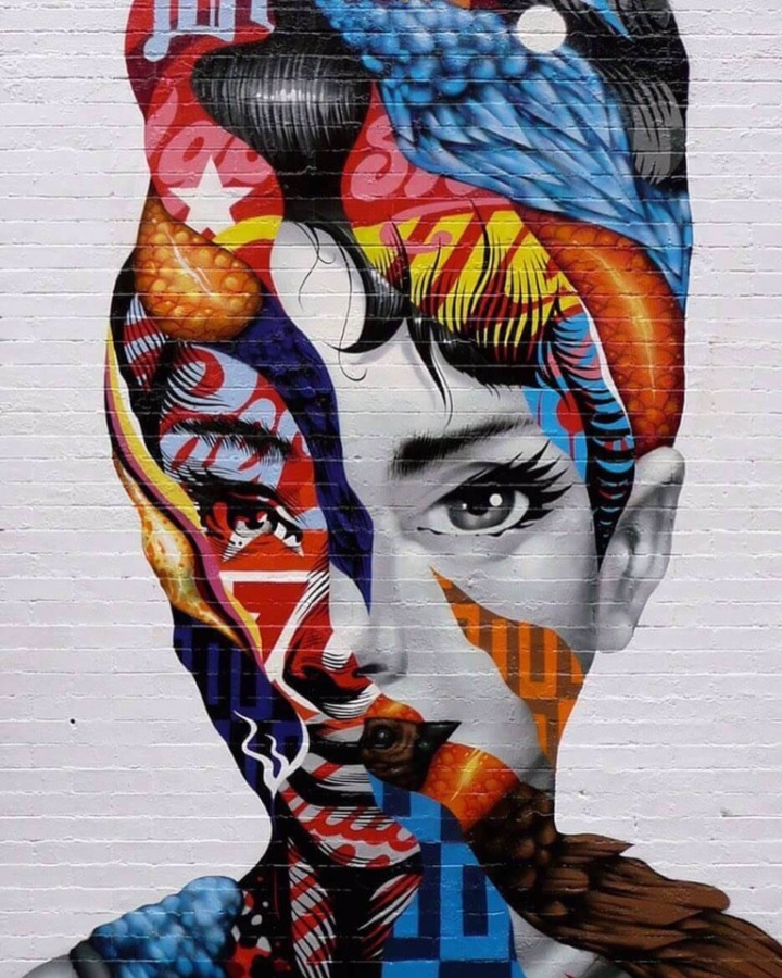 Beauty Audrey - #Creative #Streetart  - be artist be art