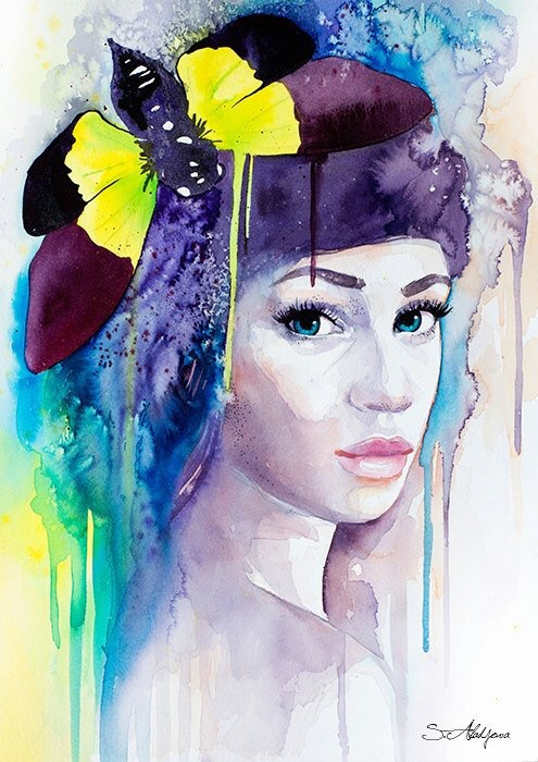 Watercolor Beauties - by Slaveika Aladjova - be artist be art