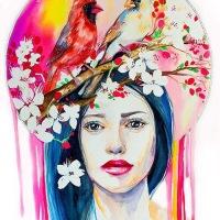 Watercolor Beauties - by Slaveika Aladjova