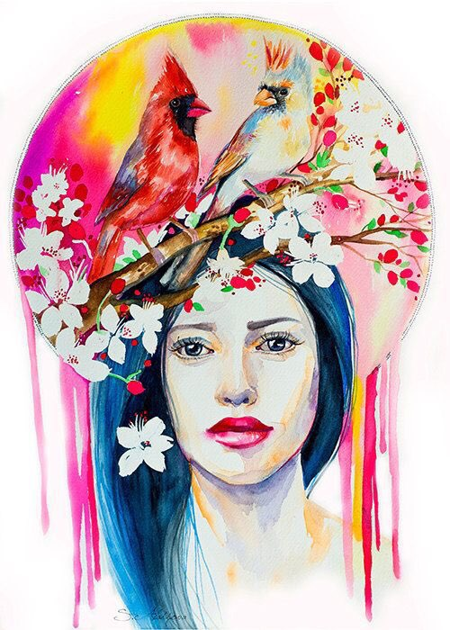 Watercolor Beauties - by Slaveika Aladjova - be artist be art