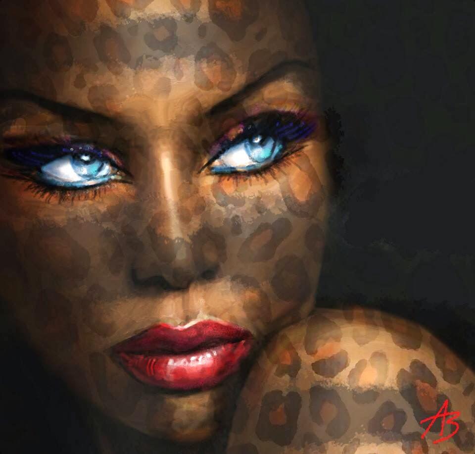 Blue Eyes Beauties - by Angela Braun - Be artist Be art