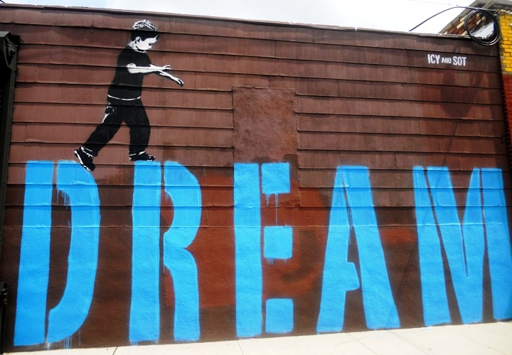 Dream - Creative Streetart by ICY and SOT - be artist be art Magazine