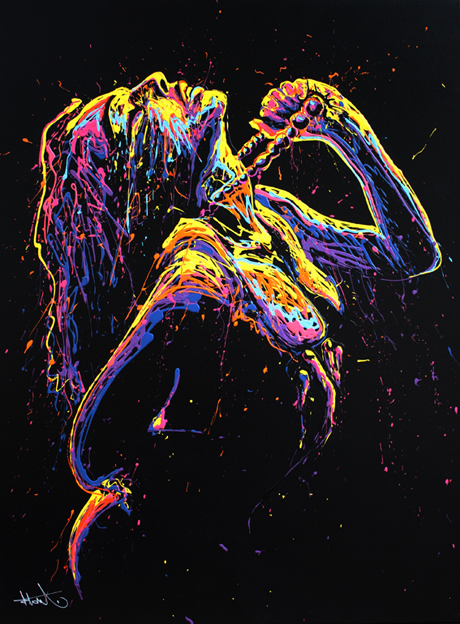 Color Explosions - by Arnaud Florentin a.k.a FLOW Painting - be artist be art magazine