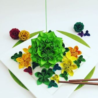KUSUDAMA and TEMARI - Origami Dreams by Gadgetique Japon - be artist be art Magazine