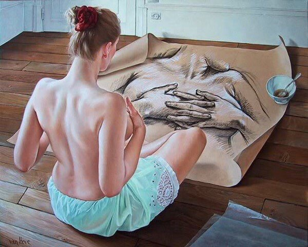 Reflexive Beauty - #Creative #Painting - be artist be art