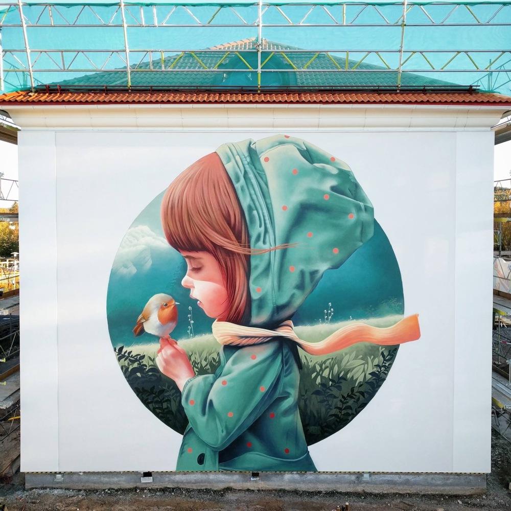 Making friends - Creative #Streetart by YASH - be artist be art