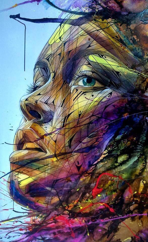 Colorful eyes, beauty lines - by HOPARE - be artist be art magazine