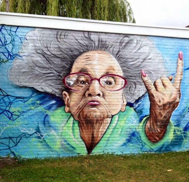 Because #Age is not on your ID - #Creative #StreetArt - be artist be art magazine