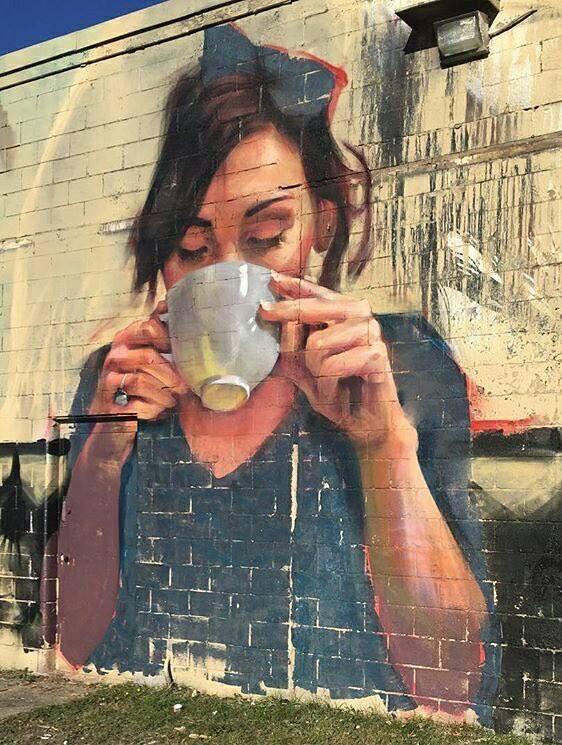 Beauty Coffee - #Creative #StreetArt - Be artist Be art Magazine