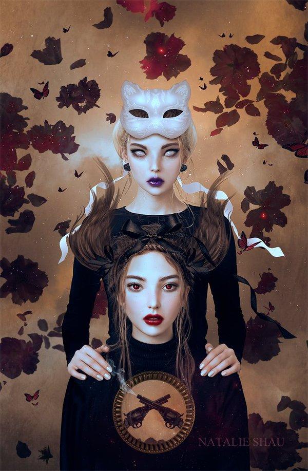 Fantasy Queens by Natalie Shau - Beauty in Wonderland by WHYTT Magazine - Be artist Be art