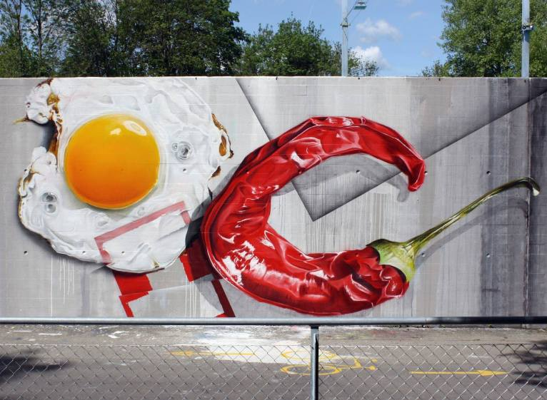 Tasty & Spicy - Creative Street Art - be artist be art