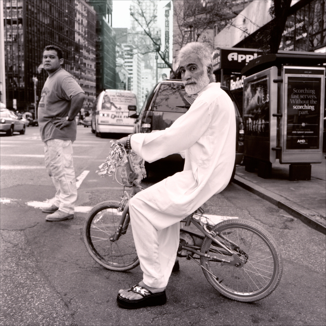 "Man on bike - ""New York, Walking Down the Street"" by PhotoFactum - be artist be art magazine"