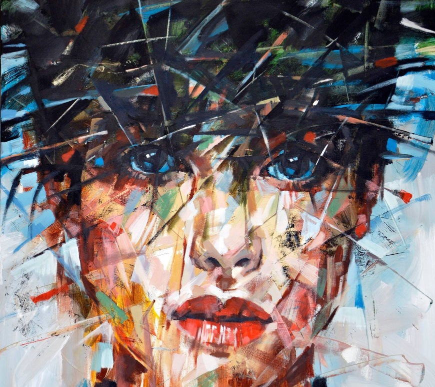 """Romancer"" - Creative Acrilic Canvas by Sasha Ilichev Art - be artist be art magazine"