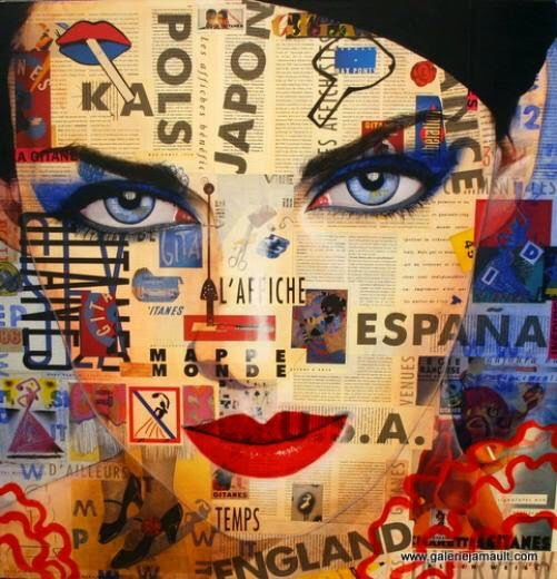 Enigmatic Eyes, 1955 - by Pauline Gagnon - be artist be art magazine