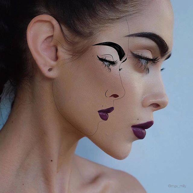 Double #Faces - by talented Max Milly - be artist be art magazine