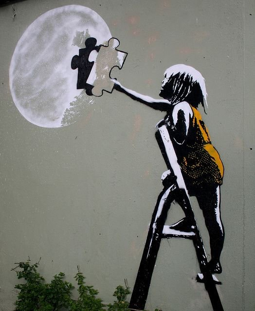 I will make the #moon for you! - #Creative & #Fantasy #StreetArt - be artist be art magazine
