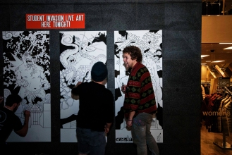 Live #Art and #Illustration TimeLapse + Pics at #StudentInvasion - by Bryce Mennell - be artist be art Magazine