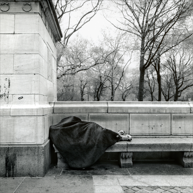 "Homeless - ""New York, Walking Down the Street"" by PhotoFactum - be artist be art magazine"