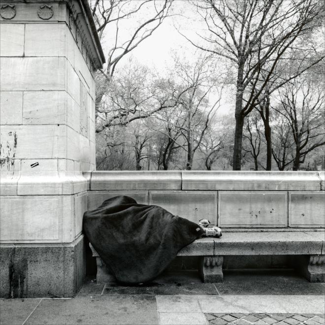 "Homeless - ""New York, Walking Down the Street"" by PhotoFactum - be artist be art magazine"