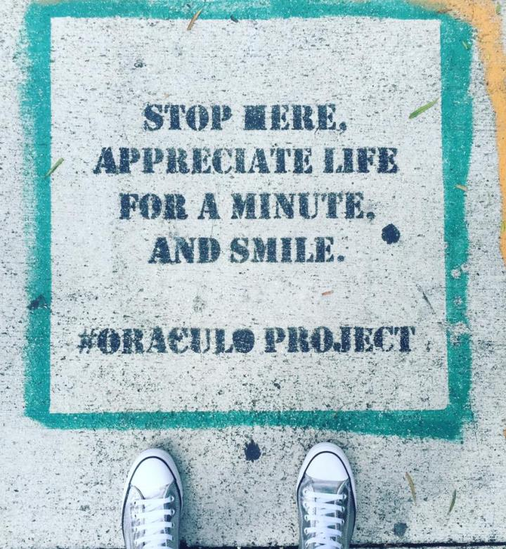 #Stop, Appreciate #Life and #Smile - Creative StreetArt - be artist be art magazine