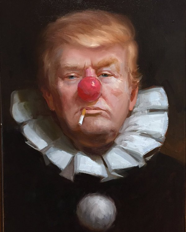 Go back to the #Circus Mr. Trump - by Tony Pro - be artist be art Magazine
