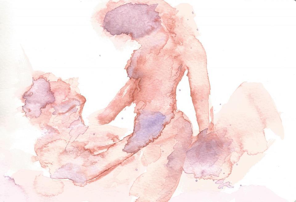 Body Feelings - Watercolor by Demi McCulloch - be artist be art magazine