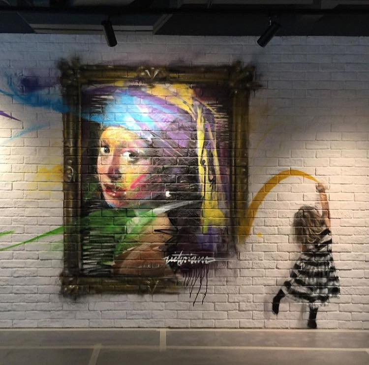 Girl with a Pearl Earring, Baby Dreams - #Creative #StreetArt - be artist be art magazine