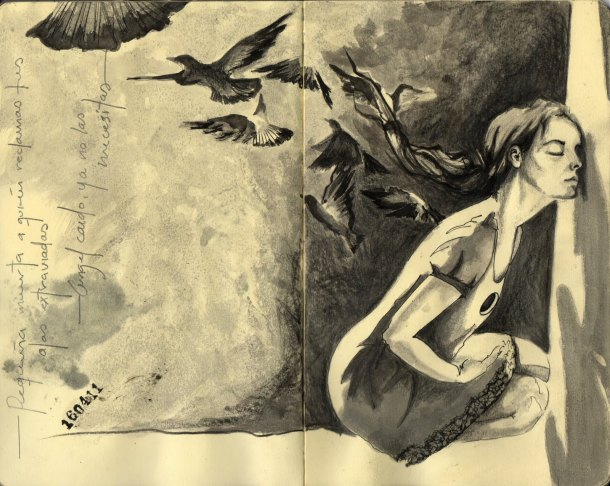 States of Mind - Sketches by Erika Kuhn - be artist be art magazine