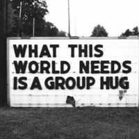 World needs a Group #Hug - #Creative #StreetArt