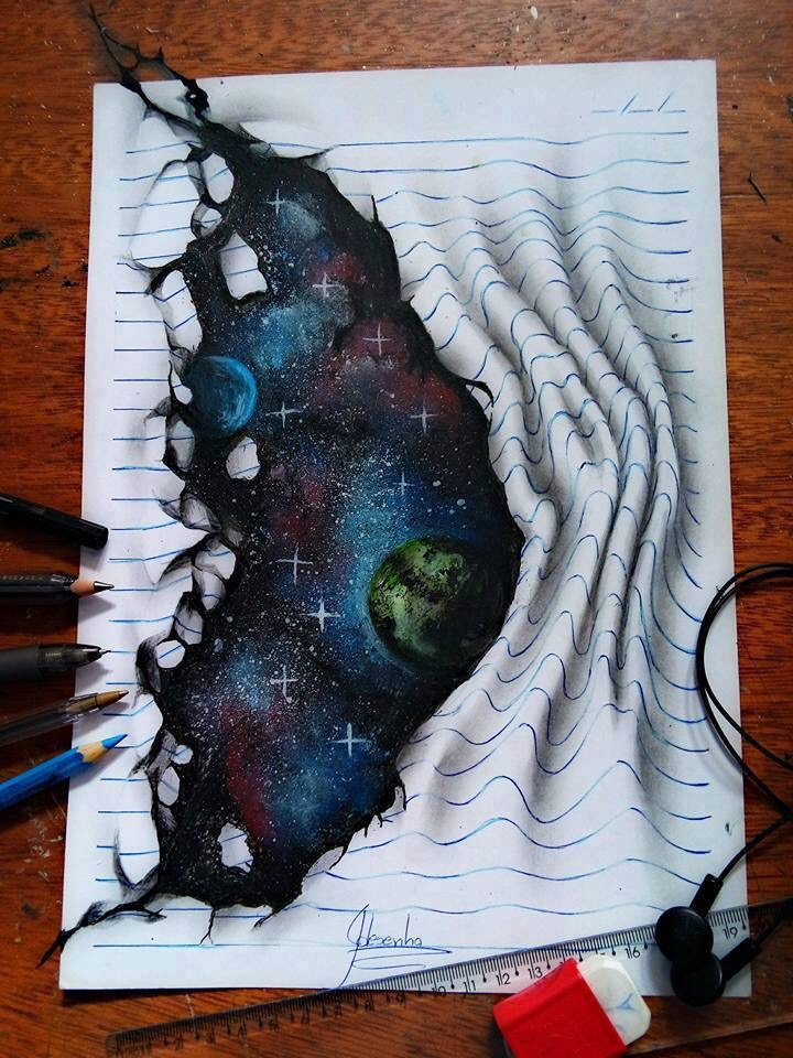 The Galaxy in my Hands - Creative Hyper Real Painting - be artist be art magazine