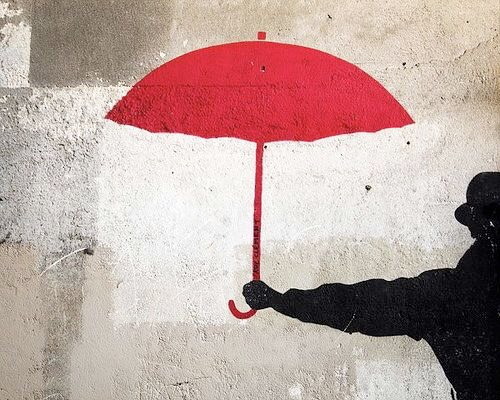 Mr. Umbrella - #Minimalism #StreetArt - be artist be art magazine