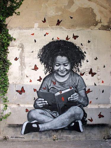 #Illusion, #Dreams, #Imagination All inside a Book - #Creative #Streetart - be artist be art magazine