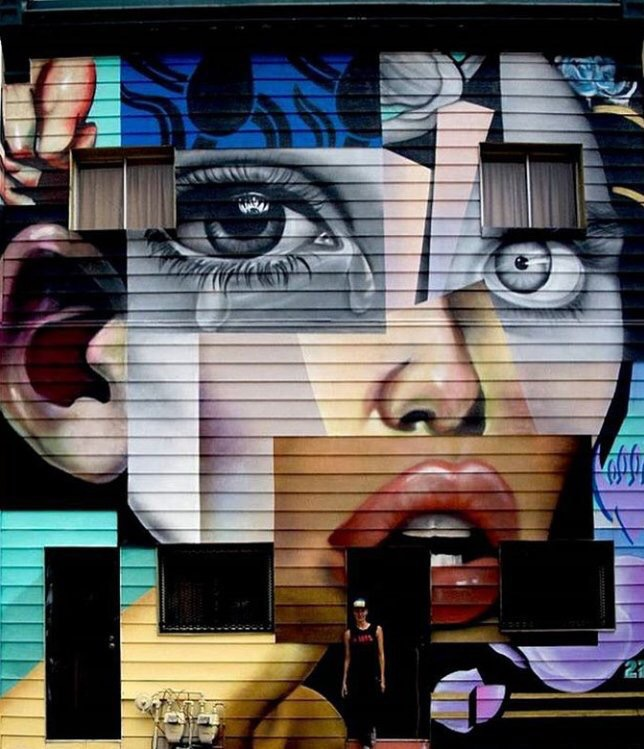 Colorful #Beauty Puzzle - #Creative #StreetArt - be artist be art magazine