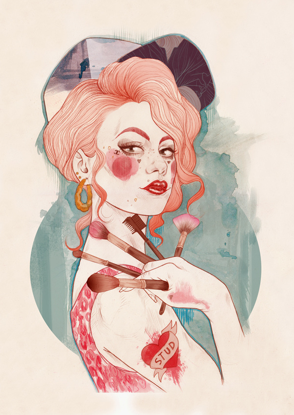 2.0 Beauty Pin-ups - by Liz Clements - be artist be art magazine