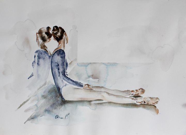 Ballerina Dreams - Watercolour Poetry by Aimee Del Valle - be artist be art magazine