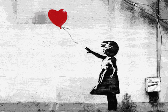 Let it go... Love is Freedom - Creative StreetArt by Bansky - be artist be art magazine