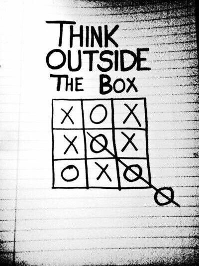 Think #Outsid the #Box - #Creative #Thinking - be artist be art magazine