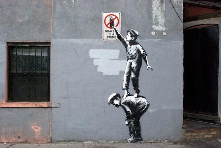 #Graffiti is #Forbidden - #StreetArt by #Bansky - be artist be art magazine