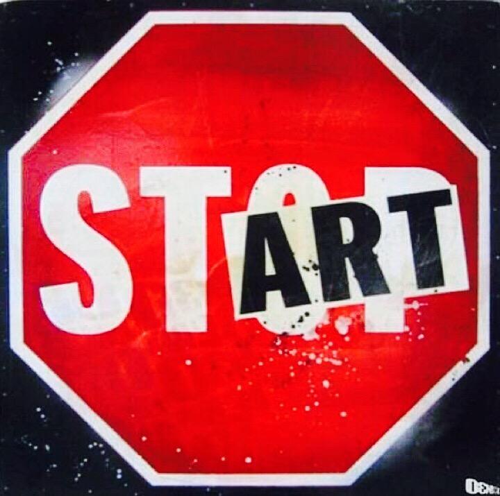 #Stop talking, #Start acting! - #Creative #StreetArt - be artist be art magazine