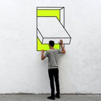Curious Optical illusions - #Creative #StreetArt by Aakash Nihalani
