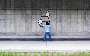 Curious Optical illusions - #Creative #StreetArt by Aakash Nihalani - be artist be art magazine