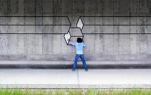 Curious Optical illusions - #Creative #StreetArt by Aakash Nihalani - be artist be art magazine