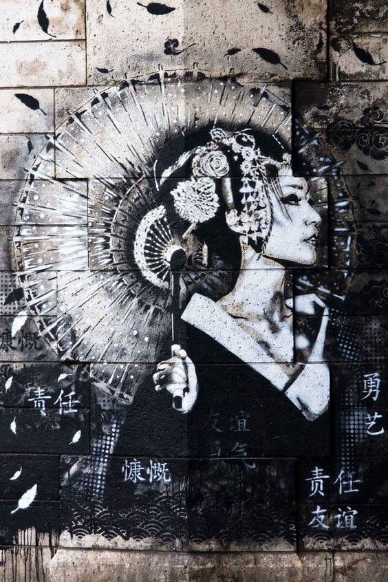 Elegant #Geisha - #Creative & #Beauty #StreetArt - be artist be art magazine