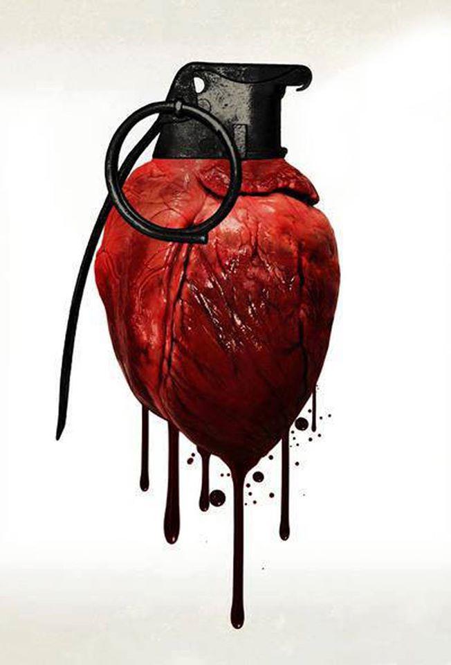 #Love must be #Respect, not a #Bomb -#StValentine #Art - be artist be art magazine