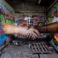 Easy #World, #Love & #Respect - #Creative #StreetArt by Jeaze