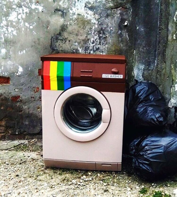 #Ego washer, #Brain washer! - #Creative #StreetArt by Biancoshock - be artist be art magazine