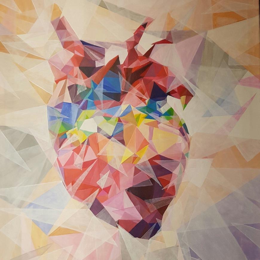 Acrylic #Heart - #Colorful #Art by Birgit Gunzer - be artist be art magazine