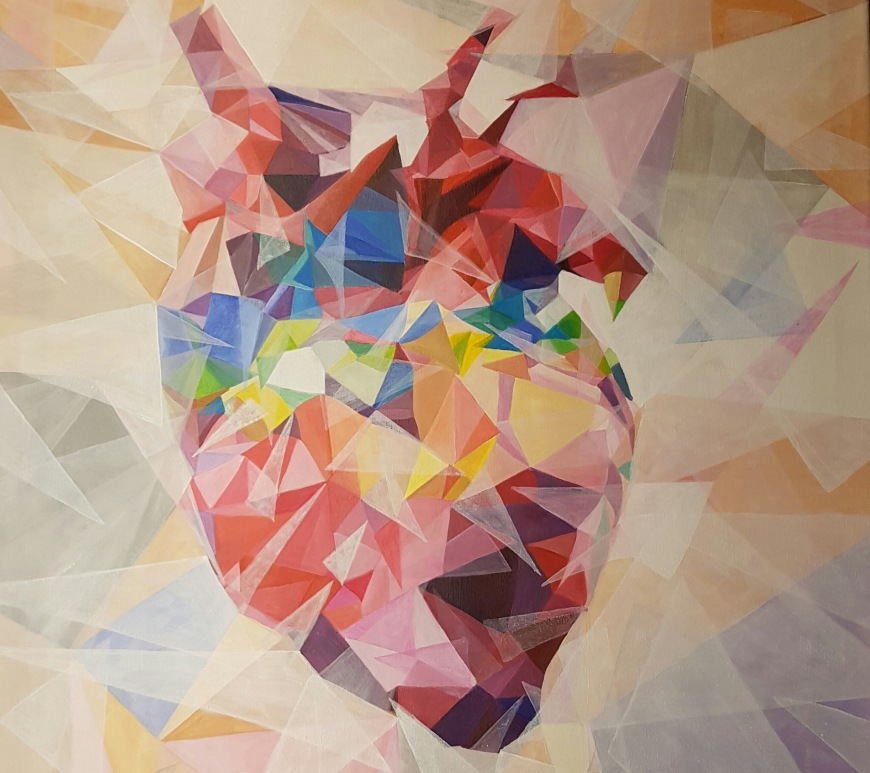 Acrylic #Heart - #Colorful #Art by Birgit Gunzer - be artist be art magazine