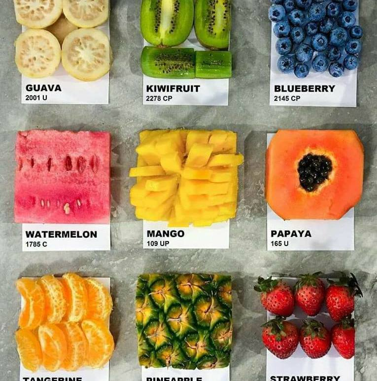 pantone fruits - creative #design - be artist be art magazine